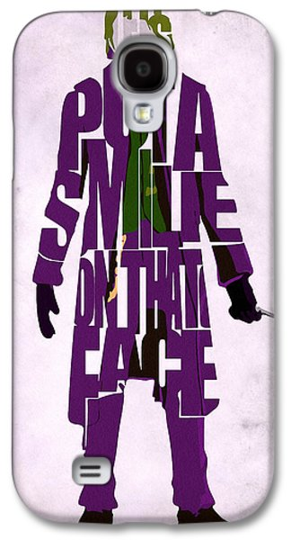 Knight Galaxy S4 Cases - Joker - Heath Ledger Galaxy S4 Case by Ayse Deniz