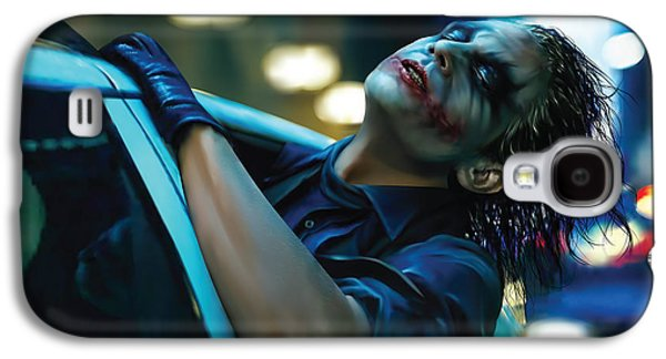 Joker Dark Knight Heath Ledger Movie Actor Galaxy S4 Cases - Joker Galaxy S4 Case by Veronika Limonov