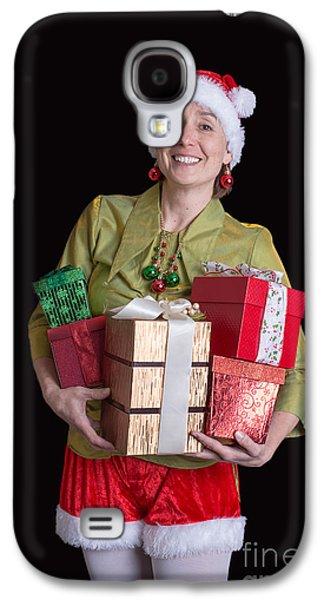 Elf Photographs Galaxy S4 Cases - Jolly Elf Christmas Card Galaxy S4 Case by Edward Fielding