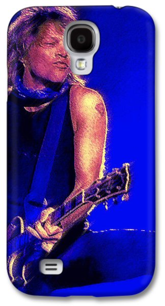 Posters On Digital Galaxy S4 Cases - Jon Bon Jovi Galaxy S4 Case by John Travisano