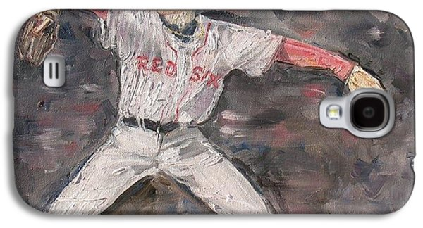 Red Sox Paintings Galaxy S4 Cases - Jon Lestor Galaxy S4 Case by Rosemary Kavanagh