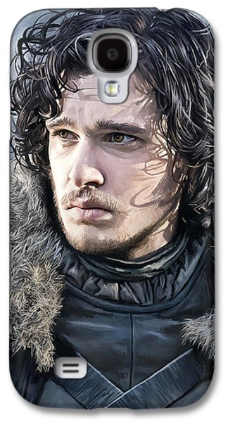 Movie Art Galaxy S4 Cases - Jon Snow - Game of Thrones Artwork Galaxy S4 Case by Sheraz A