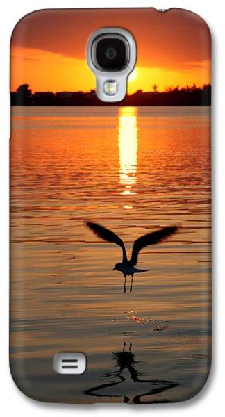 Sun Galaxy S4 Cases - Jonathan Livingston Seagull Galaxy S4 Case by Karen Wiles