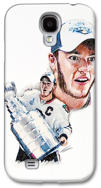 Hockey Pastels Galaxy S4 Cases - Jonathan Toews - The Season Galaxy S4 Case by Jerry Tibstra