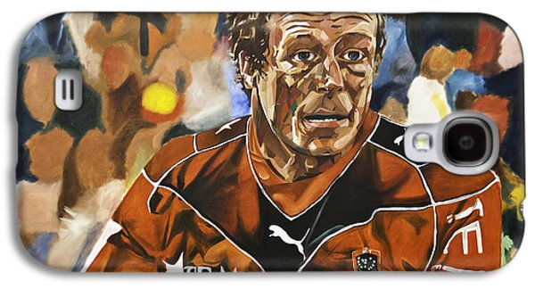 Rugby Paintings Galaxy S4 Cases - Jonny Wilkinson Galaxy S4 Case by James Lavott