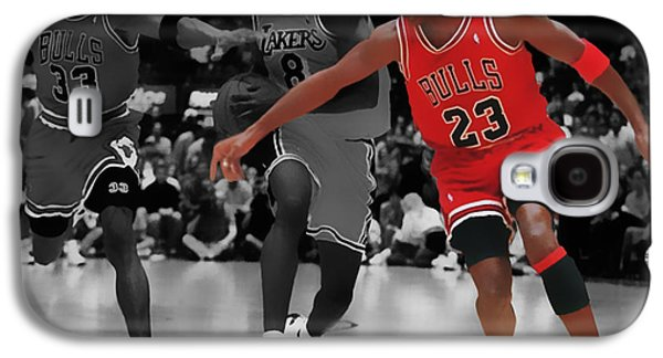 Patrick Ewing Galaxy S4 Cases - Jordan and Pippen Give me That Galaxy S4 Case by Brian Reaves