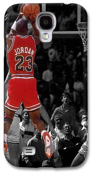 Mj Digital Galaxy S4 Cases - Jordan Buzzer Beater Galaxy S4 Case by Brian Reaves