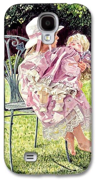 Jordan Paintings Galaxy S4 Cases - Jordan Foster - Garden Girl Galaxy S4 Case by David Lloyd Glover
