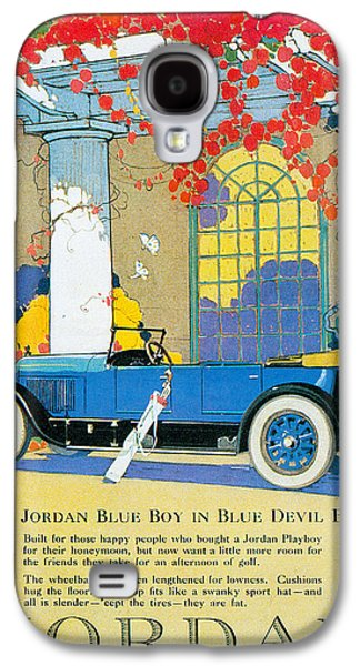 Jordan Photographs Galaxy S4 Cases - Jordan Motor Car Company Galaxy S4 Case by Vintage Automobile Ads and Posters