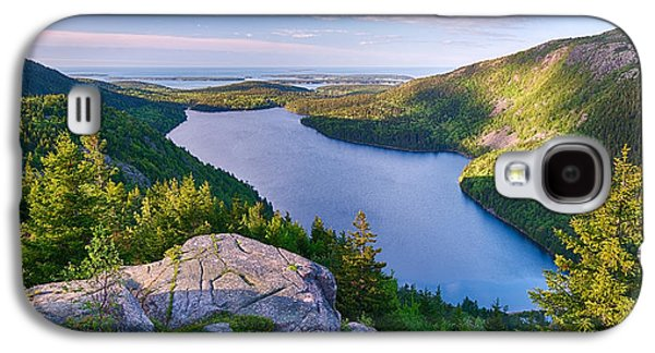 Maine Mountains Galaxy S4 Cases - Jordan Pond From The North Bubble Galaxy S4 Case by Panoramic Images