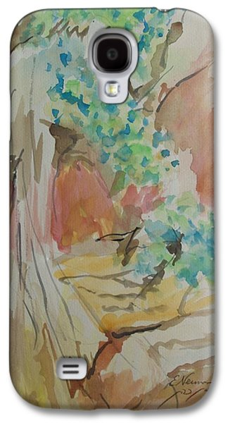 River Jordan Paintings Galaxy S4 Cases - Jordan River Sources Galaxy S4 Case by Esther Newman-Cohen