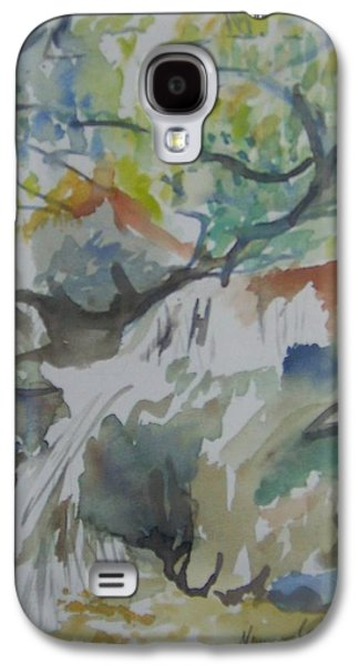River Jordan Paintings Galaxy S4 Cases - Jordan River Waterfall Galaxy S4 Case by Esther Newman-Cohen