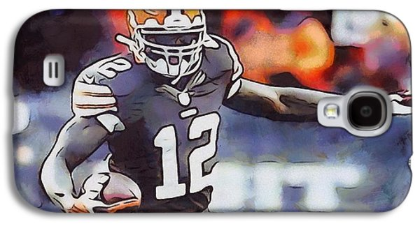 Wide Receiver Galaxy S4 Cases - Josh Gordon Cleveland Browns Galaxy S4 Case by Dan Sproul
