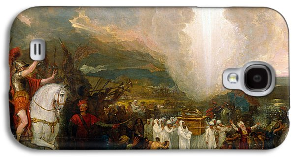 River Jordan Paintings Galaxy S4 Cases - Joshua passing the River Jordan with the Ark of the Covenant Galaxy S4 Case by Benjamin West