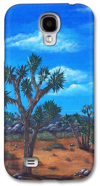Garden Scene Drawings Galaxy S4 Cases - Joshua Tree Desert Galaxy S4 Case by Anastasiya Malakhova