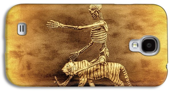 Macabre Digital Galaxy S4 Cases - Journey With A Tiger Galaxy S4 Case by Jeff  Gettis