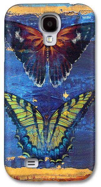 Abstract Digital Paintings Galaxy S4 Cases - Joy Butterflies Galaxy S4 Case by Jean PLout