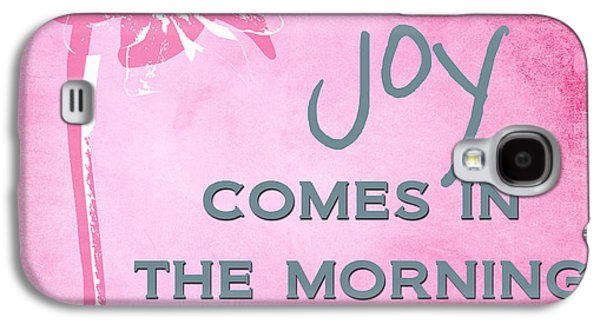 The Church Mixed Media Galaxy S4 Cases - Joy Comes In The Morning Pink and White Galaxy S4 Case by Linda Woods