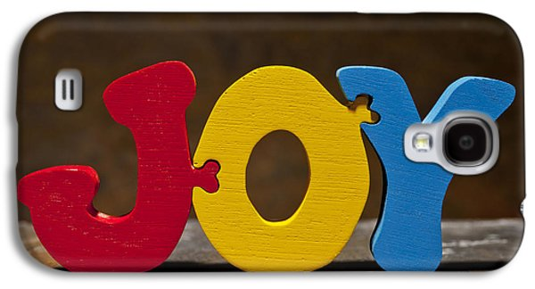 Positive Attitude Galaxy S4 Cases - Joy Puzzle Painted Wood Letters Galaxy S4 Case by Donald  Erickson
