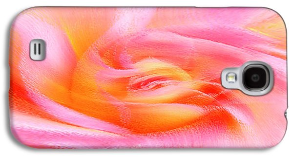 Abstract Movement Galaxy S4 Cases - Joy - Rose Galaxy S4 Case by Ben and Raisa Gertsberg
