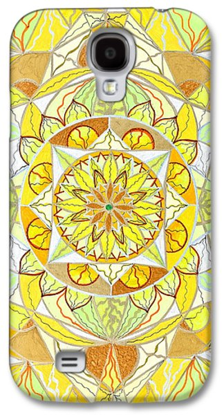Yellow Paintings Galaxy S4 Cases - Joy Galaxy S4 Case by Teal Eye  Print Store