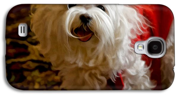 Puppies Digital Art Galaxy S4 Cases - Joy To The World Galaxy S4 Case by Lois Bryan