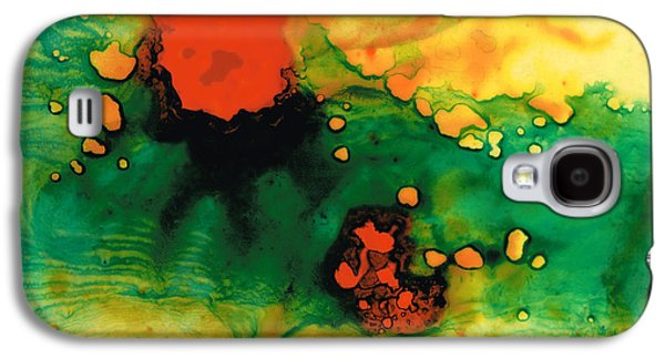 Abstract Art Canvas Paintings Galaxy S4 Cases - Jubilee - Abstract Art By Sharon Cummings Galaxy S4 Case by Sharon Cummings