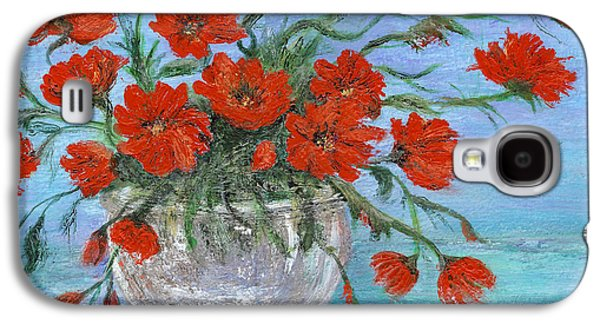 Catherine White Paintings Galaxy S4 Cases - Jubilee Poppies Galaxy S4 Case by Catherine Howard