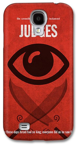 Judges Books Of The Bible Series Old Testament Minimal Poster Art Number 7 Galaxy S4 Case by Design Turnpike
