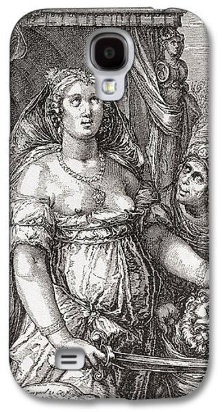 Seventeenth Century Galaxy S4 Cases - Judith Beheading The Assyrian General Holofernes.  Symbolic Representation Of The Power Of Woman Galaxy S4 Case by Bridgeman Images