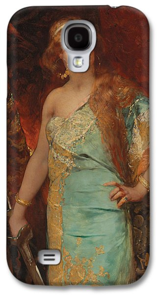 Gold Earrings Galaxy S4 Cases - Judith Galaxy S4 Case by Jean Joseph Benjamin Constant
