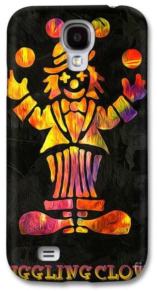 Juggling Galaxy S4 Cases - Juggling Clown by Kaye Menner Galaxy S4 Case by Kaye Menner