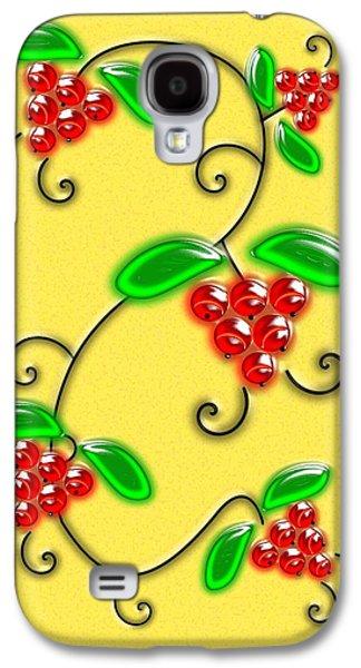 Card Digital Art Galaxy S4 Cases - Juicy Berries Galaxy S4 Case by Anastasiya Malakhova