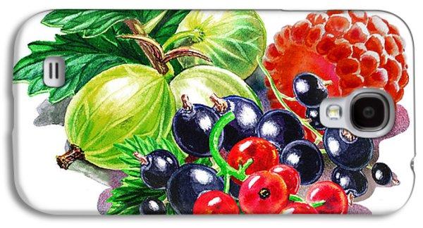 Farm Fields Paintings Galaxy S4 Cases - Juicy Berry Mix  Galaxy S4 Case by Irina Sztukowski