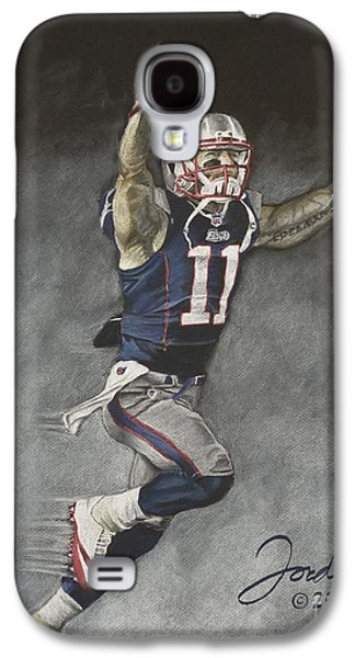 Fog Mist Pastels Galaxy S4 Cases - Julian Edelman New England Patriots Galaxy S4 Case by Jordan Spector