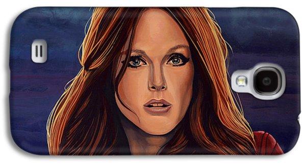Change Paintings Galaxy S4 Cases - Julianne Moore Galaxy S4 Case by Paul Meijering