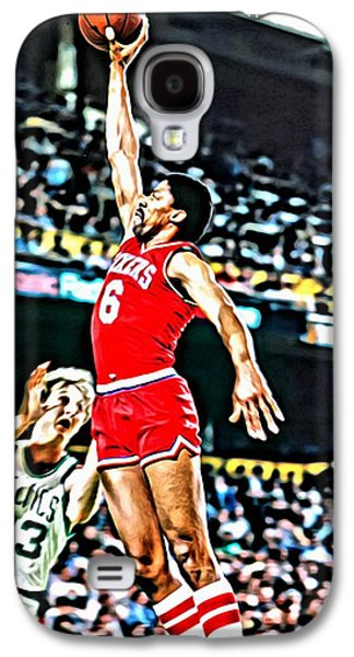Dr. J Galaxy S4 Cases - Julius Erving Galaxy S4 Case by Florian Rodarte