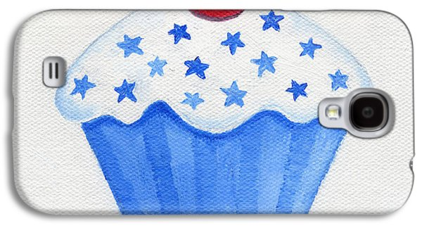 4th July Paintings Galaxy S4 Cases - July 4th Cupcake Galaxy S4 Case by Annamarie Lombardo