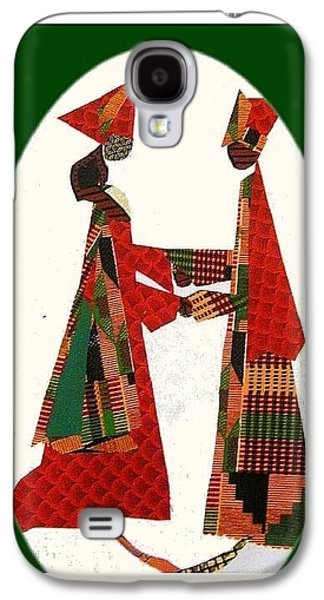 African-americans Tapestries - Textiles Galaxy S4 Cases - Jumping the Broom Galaxy S4 Case by Ruth Yvonne Ash