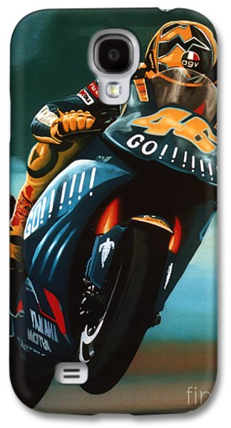 Circuit Galaxy S4 Cases - Jumping Valentino Rossi  Galaxy S4 Case by Paul  Meijering