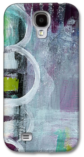 Purple Art Galaxy S4 Cases - Junction- Abstract Expressionist Art Galaxy S4 Case by Linda Woods