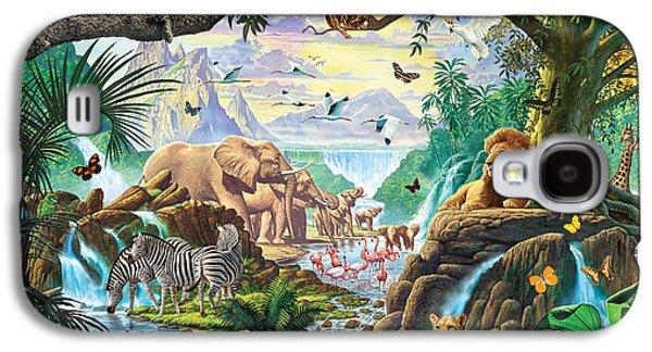 Harmonious Galaxy S4 Cases - Jungle Five Galaxy S4 Case by Steve Crisp