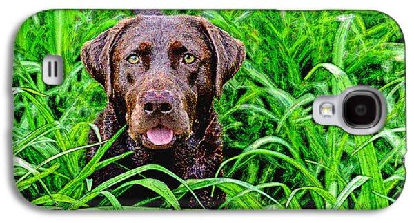 Chocolate Lab Digital Art Galaxy S4 Cases - Jungle Jewel Galaxy S4 Case by Dale Hall