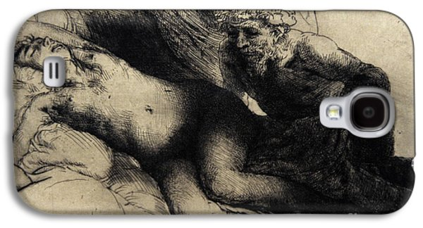 Drypoint Galaxy S4 Cases - Jupiter And Antiope, C.1659, By Rembrandt 1606-1669 Galaxy S4 Case by Bridgeman Images