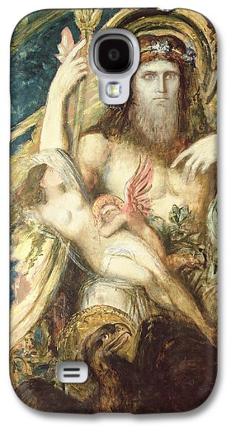 Roman Galaxy S4 Cases - Jupiter And Semele Oil On Canvas Galaxy S4 Case by Gustave Moreau
