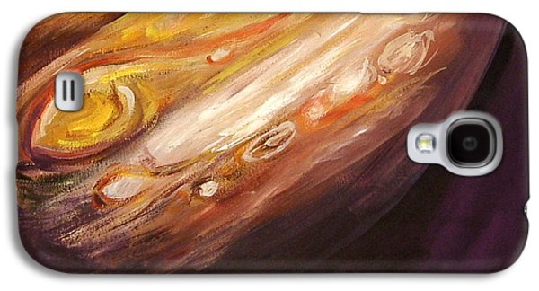 Planetary System Paintings Galaxy S4 Cases - Jupiter Galaxy S4 Case by Sheila Diemert