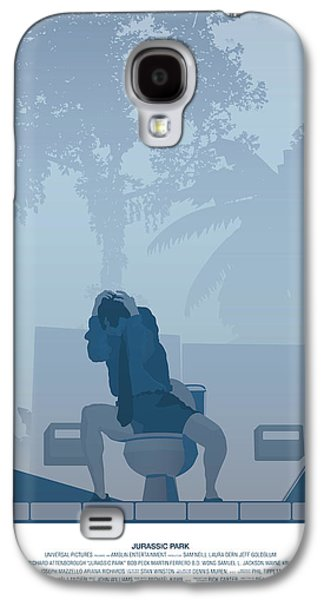 Extinct And Mythical Digital Art Galaxy S4 Cases - Jurassic Park poster - Feat. Gennaro Galaxy S4 Case by Peter Cassidy