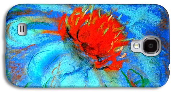 Drawing Galaxy S4 Cases - Just a Flower Galaxy S4 Case by Sue Jacobi