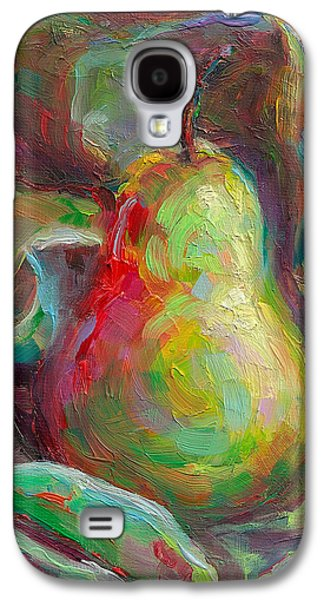 Lively Galaxy S4 Cases - Just a Pear - impressionist still life Galaxy S4 Case by Talya Johnson