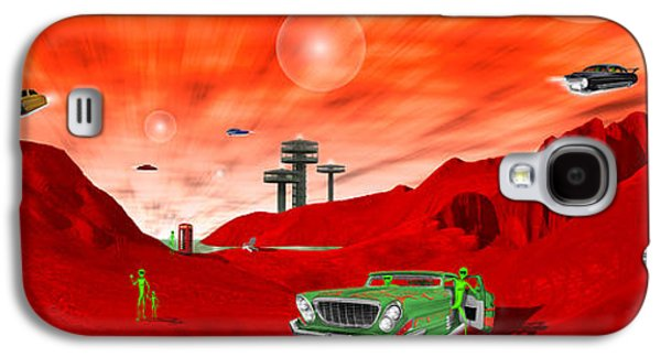 Orb* Galaxy S4 Cases - Just Another Day on the Red Planet Panoramic Galaxy S4 Case by Mike McGlothlen